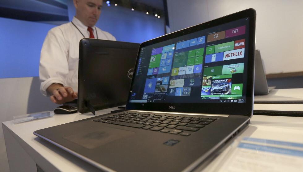 DELL: Sikkerhetsforskere har avdekket et alvorlig sikkerhetshull i 400 Dell-modeller. Foto: AP Photo/Jeff Chiu/NTB
