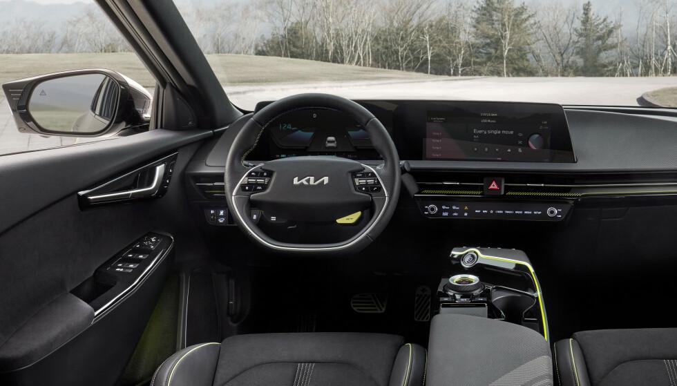 SOM IONIQ 5: Kia EV6 bygges på den samme plattformen som Hyundais Ioniq 5. Den kommer til Norge allerede i sommer. Foto: Kia