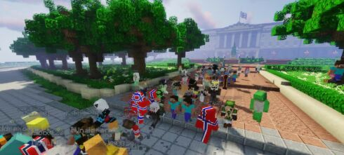 Feirer 17. mai i «Minecraft»