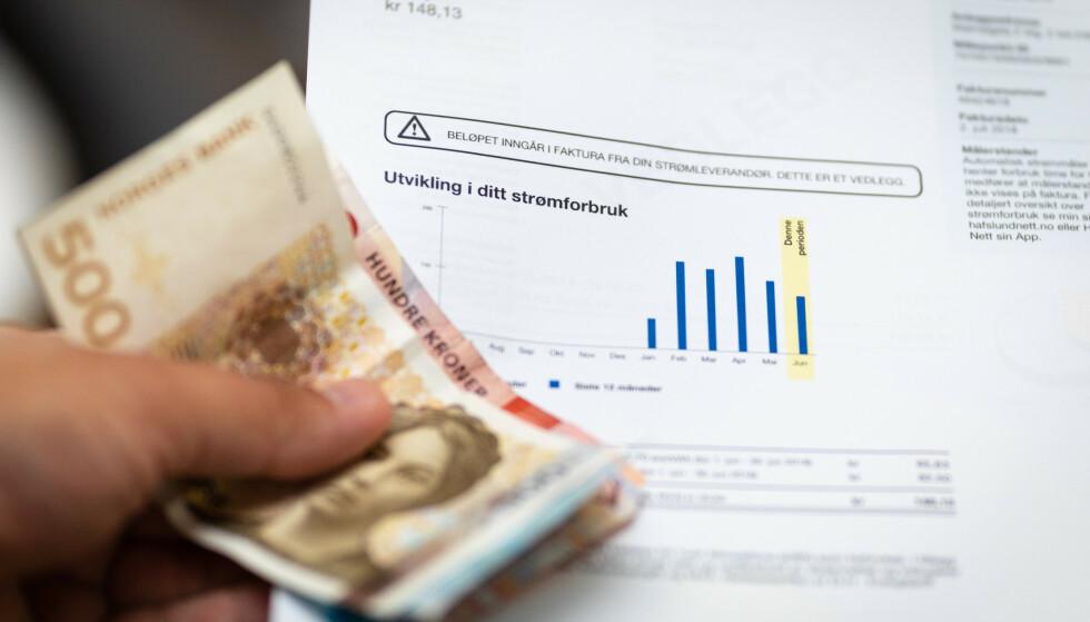 DOBLING: Strømprisene i første kvartal var de dobbelte i forhold til samme periode i fjor. Foto: Audun Braastad / NTB