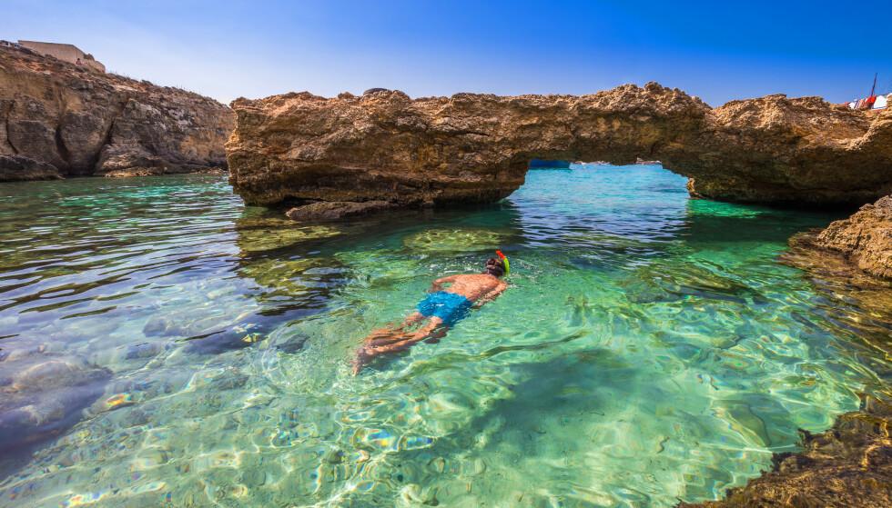 """SYDENFERIE I SOMMER? To europeiske """"syden-land"""" nærmer seg nå gult nivå, ikke minst Malta hvor bildet over er tatt. Foto: NTB"""
