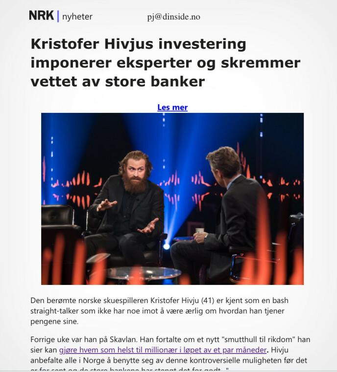 «bash straight-talker» er kanskje ikke et ord NRK ville ha brukt i en artikkel, og han var heller ikke på Skavlan i forrige uke, men annet enn det er det lite å arrestere svindlerne på.