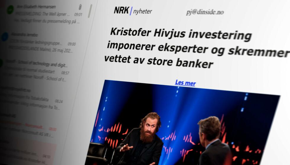 SVINDEL: Med troverdig norsk språk og ryddig oppsett, kan det være lett å tro at denne e-posten er legitim. Det er den ikke. Foto: Pål Joakim Pollen