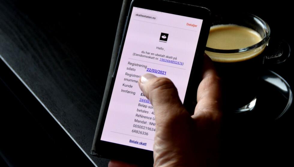 SVINDEL: Skattetaten advarer nå mot svindel-epost, som sendes ut i deres navn. Foto: Skatteetaten