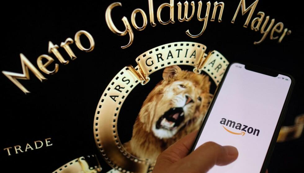 KJØPT OPP: Amazon har nå kjøpt opp MGM - det kan bety at deres strømmetjeneste i nær fremtid vil fylles med mer innhold. Foto: Chris Delmas / AFP / NTB