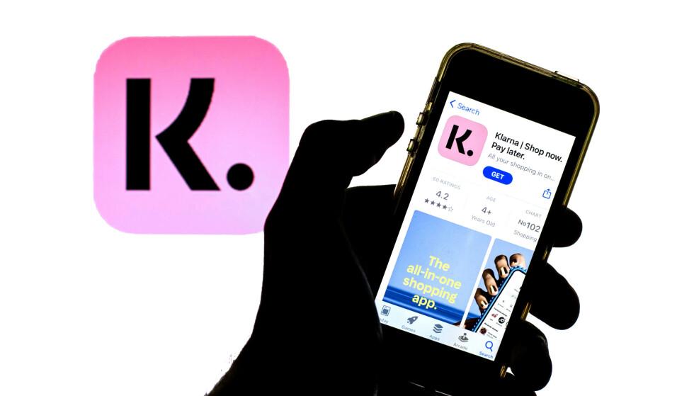 HANDLEAPP: Klarna er en svensk betalingstjeneste, men har også mange brukere i andre land, inkludert i Norge. Appen deres som «tar shopping til et nytt nivå», ifølge nettsidene deres, opplever strore problemer. Foto: Thiago Prudencio/SOPA Images/Shutterstock