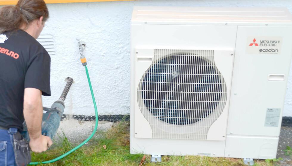 AVVIKLER STØTTEN: Fra 1. juli er det slutt på Enova-støtte for installasjon av luft-til-vann-varmepumpe. Foto: Mitsubishi