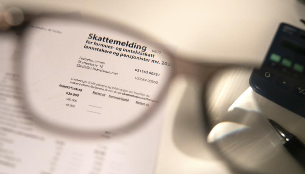 FRIST: I dag er fristen for å leverer skattemeldingen, eller søke om utsettelse - for selvstendig næringsdrivende. Foto: Terje Pedersen / NTB