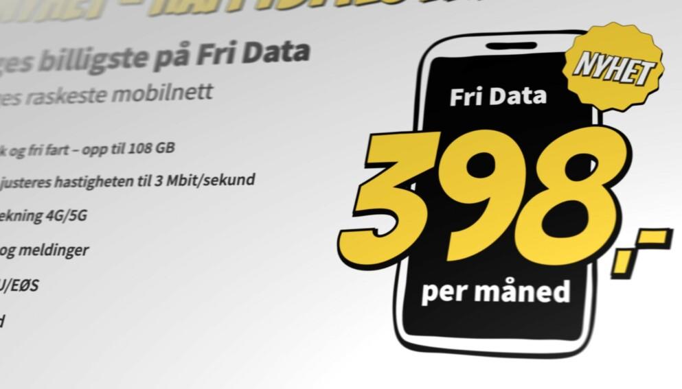 BILLIGST: Happybytes lanserer et fri data-abonnement som er rimeligst i Norge. Foto: Pål Joakim Pollen