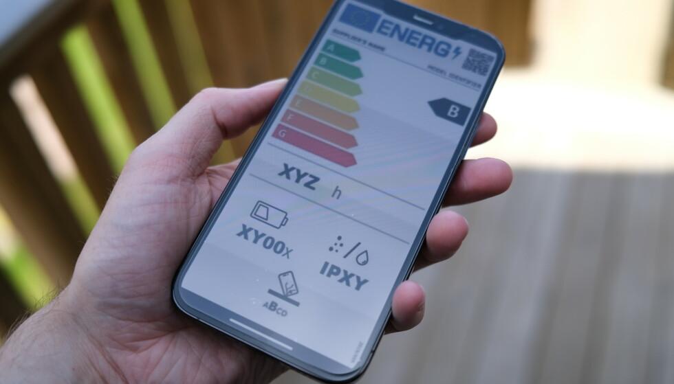 ENERGIMERKING: Hvis EU får som de vil må mobilprodusentene energimerke produktene sine. Foto: Martin Kynningsrud Størbu