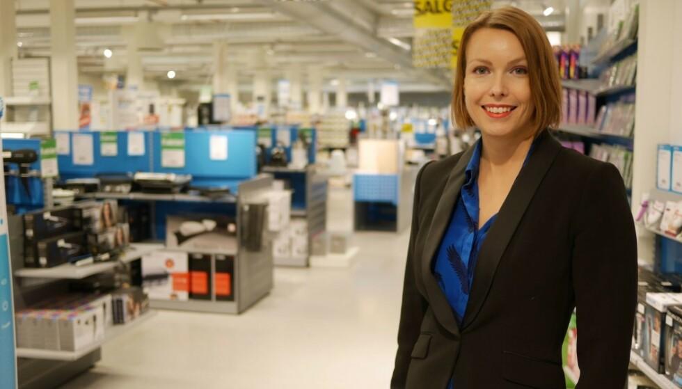 Kommunikasjonssjef Marte Ottemo i Stiftelsen Elektronikkbransjen. Foto: Stian Sønsteng.