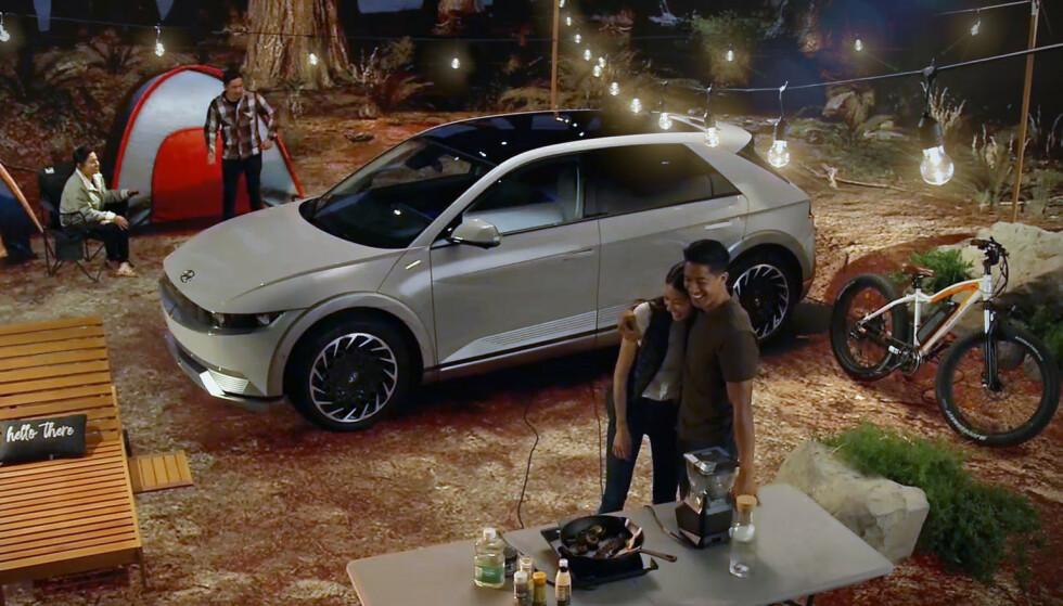 STARTEN PÅ SLUTTEN: For Hyundai er Ioniq 5 starten på slutten. Hyundai vil nå slutte å selge biler med bare bensin- og dieselmotorer i Norge. Da kommer alle bilene til å hete Ioniq ett-eller-annet. Foto: Hyundai