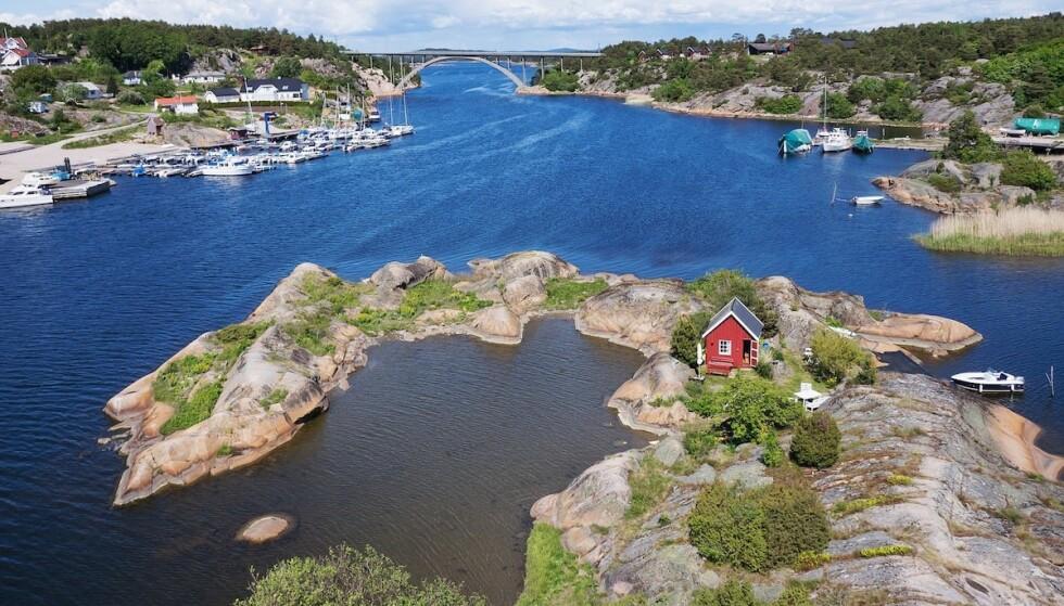 Norsk favoritt: Også denne sommeren er det utleierush for den lille hytta på Båtholmen. Foto: Airbnb