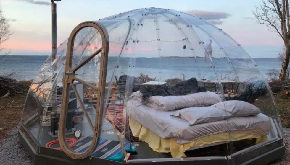 God utsikt: Her er det ikke noe som sperrer for utsikten til havet. Foto: airbnb
