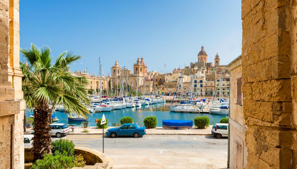 MALTA: Fra mandag unntas Malta fra det globale reiserådet. Foto: NTB