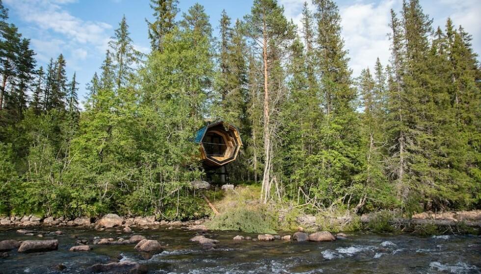 Ved elva: Hva med et mikrohus ved elva? Foto: airbnb
