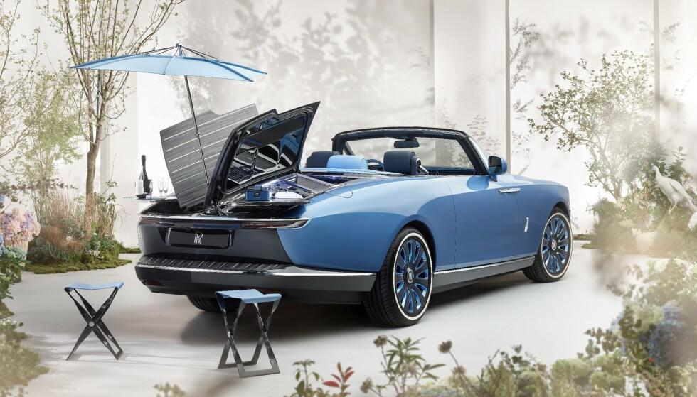 PRIS 230 MILLIONER: Hva kjøper du til et par som har alt og mer til? Kanskje en Rolls-Royce Boat Tail til 230 millioner kroner? Foto: Rolls Royce