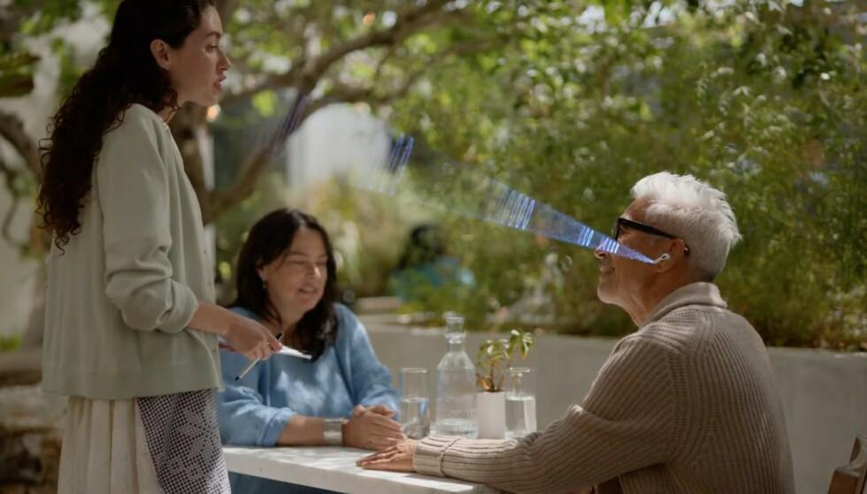 Conversation boost lar deg bruke Airpods Pro som et slags høreapparat, som forsterker stemmen til den som snakker til deg. Foto: Apple