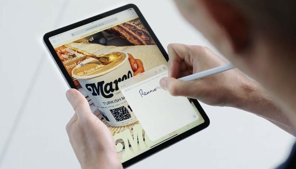 Quick note lar deg kjapt lage et notat basert på hva du ser i skjermbildet. Foto: Apple