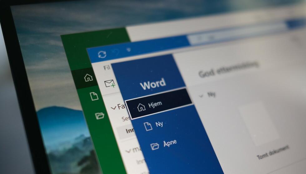 OFFICE: Sikkerhetsforskere i Check Point Research anbefaler deg å oppdatere etter at det ble avdekket sikkerhetsbrister i Microsoft Office. Foto: Martin Kynningsrud Størbu