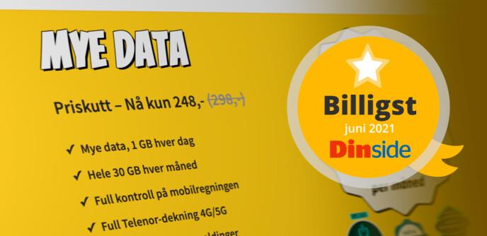 Happybytes «mye data»-abonnement (tidligere «1-om-dagen») gir deg mest under 300 kroner.