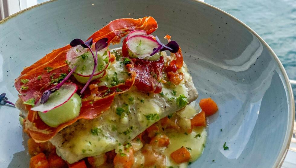 Kortreist mat: Dagens fisk servert på restaurant Maren Anna i Sørvågen. Foto: Kathrine Salhus