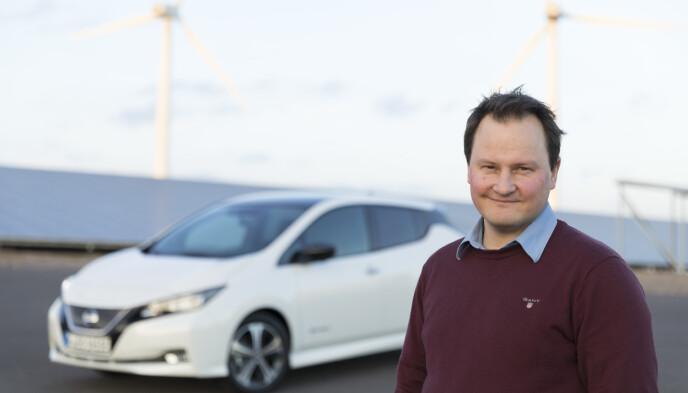 NORGES MEST SOLGTE: Nissan Leaf er Norges mest solgte elbil. - Vi har planer om fortsatt å selge mye Leaf framover, sier kommunikasjonssjef Knut Arne Marcussen i Nissan Norge. Foto: Nissan