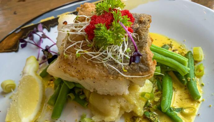 Middag på Gammelbua: Et besøk i Lofoten er ikke fullendt uten et ordentlig fiskemåltid. Foto: Kathrine Salhus
