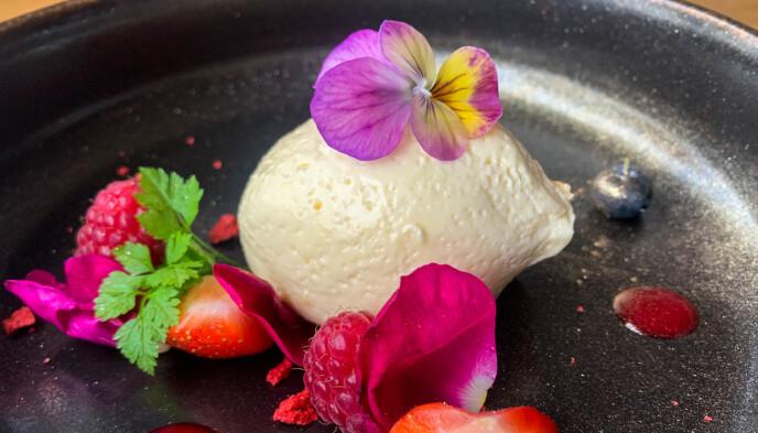 Dessert på Lofotmat: Er du først på feriem er det lov å unne seg dessert. Foto: Kathrine Salhus.