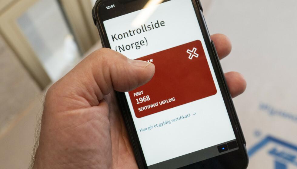 FØDSELSDATO: I noen coronasertifikat stemmer ikke fødselsdatoen. Foto: Heiko Junge / NTB