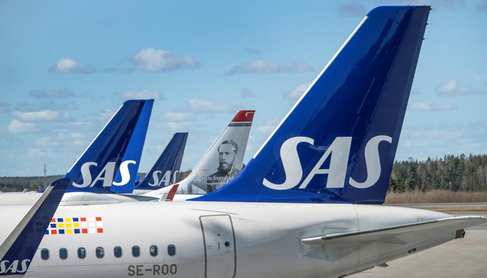 SAS: Forbrukerrådet mener at SAS skylder kundene millioner. Foto: Wiklund/TT News Agency/Retuters/NTB