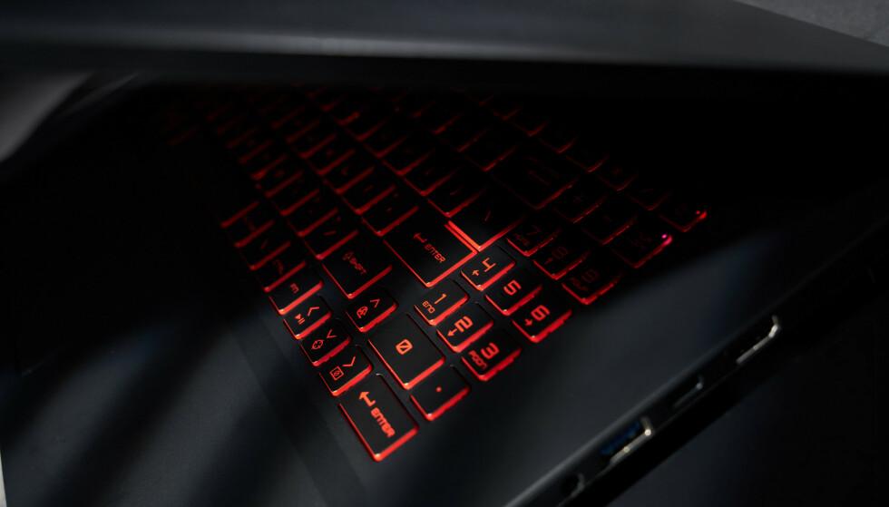 KONTRASTER: Helt sort. Lysende rødt. En lokkende kombinasjon på den nye GF Katana.