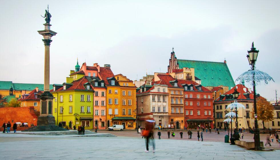 GULT: Polen blir sannsynligvis gulmerket i dag, her fra Warszawa. Foto: badahos / Shutterstock / NTB