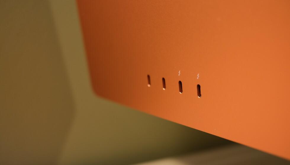 De fire USB-kontaktene sitter på baksiden. Foto: Martin Kynningsrud Størbu