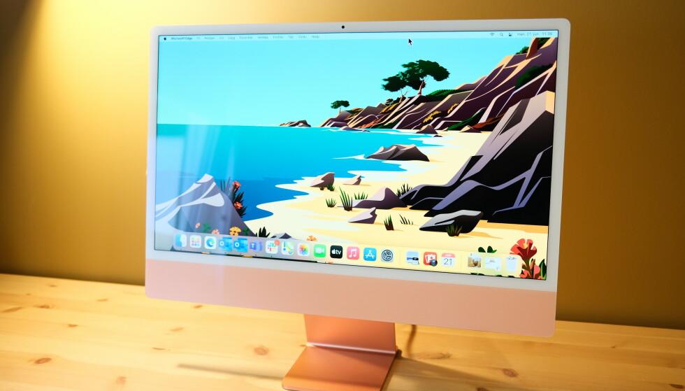 M1-brikka sørger for et solid opplevelse med iMac M1. Foto: Martin Kynningsrud Størbu