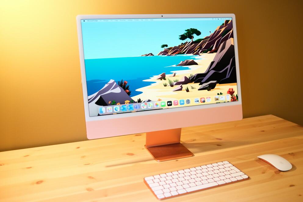 IMAC M1: Vi lar oss begeistre av Apples nye alt-i-ett. Foto: Martin Kynningsrud Størbu