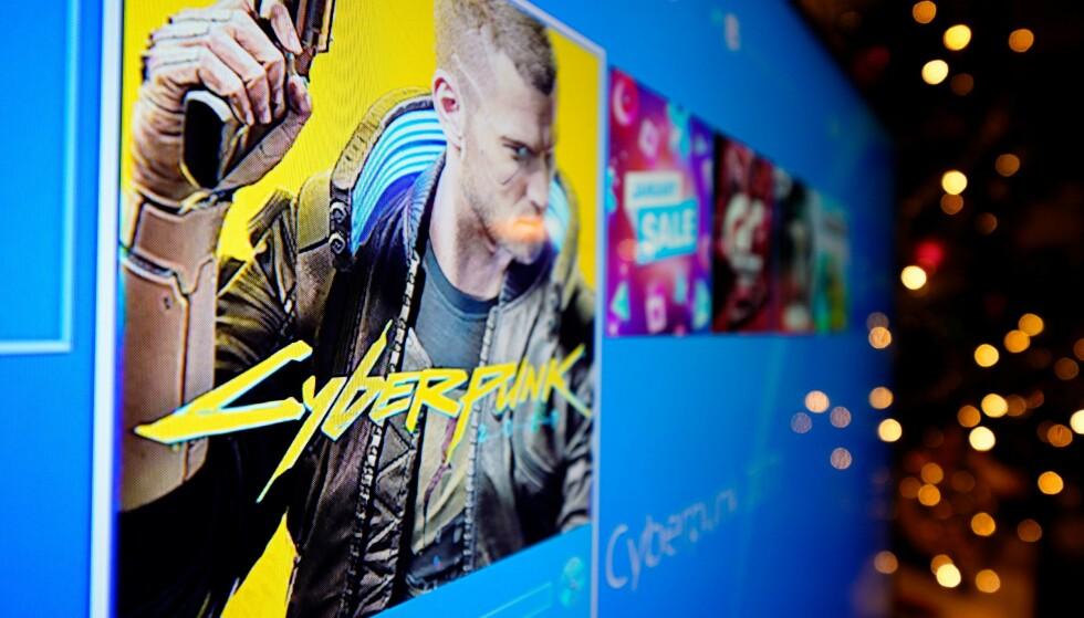 CYBERPUNK 2077: Etter et halvt år på utsiden er «Cyberpunk 2077» tilbake i PlayStation Store. Foto: Jaap Arriens/NurPhoto/Shutterstock/NTB