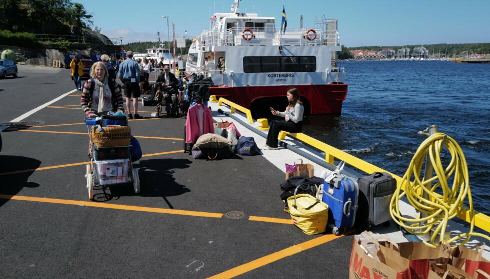 Ferieklare: Turistene, i hovedsak svenske og norske, er klare for ferieøyene Koster. Foto: Odd Roar Lange/The Travel Inspector