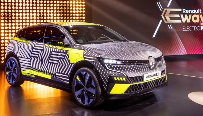 FØRST UT: Første nye elbil fra Renault er Megane, som vises til høsten og kommer etter det vi erfarer til Norge i løpet av våren. Foto: Renault