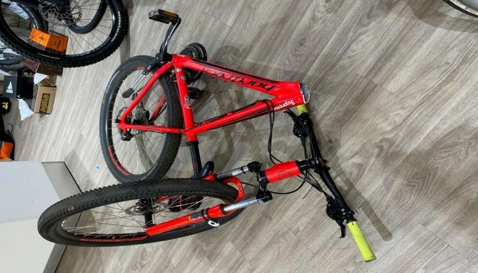 TILBAKEKALLES: Sykler av denne typen blir nå tilbakekalt fordi rammen kan brekke. Foto: Brav