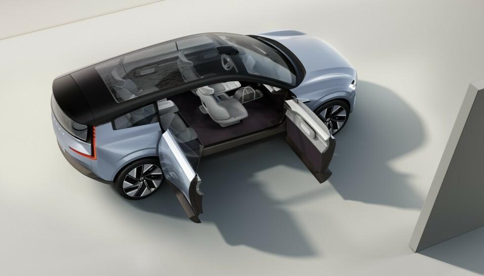 1000 KILOMETER: Med en ny batteritype og andre tekniske forbedringer, mener Volvo at de skal kunne gi elbilene en rekkevidde på opp mot 1000 kilometer. Det skjer neppe før rundt 2025. Foto: Volvo