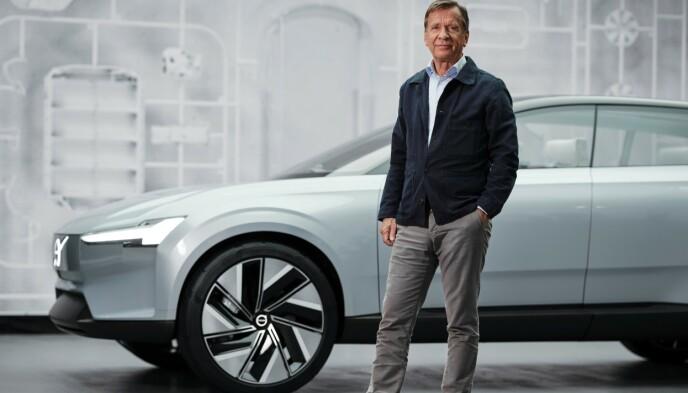FÅR ORDENTLIG NAVN: Den nye bilen skal få et navn slik som en nyfødt baby, sier Volvo-sjef Håkan Samuelsson. Dagens kombinasjon av to bokstaver og to tall, som XC90, forsvinner. Foto: Volvo