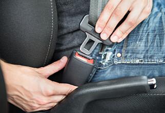 Mange bruker bilbelte feil