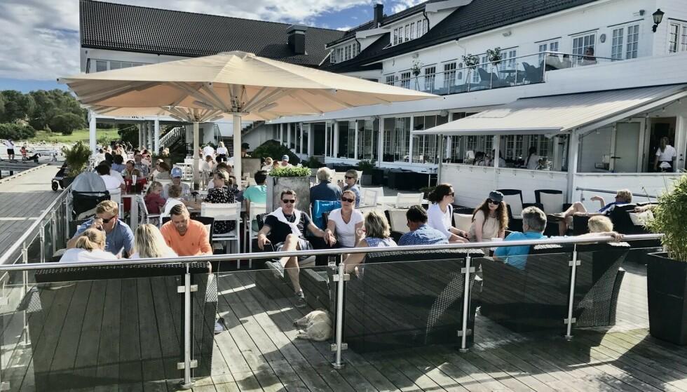 Uteliv: Gode badehotell har selvsagt gode muligheter til late dager utendørs. Her fra Scandic Havna Hotel på Tjøme. Foto: Odd Roar Lange/The Travel Inspector