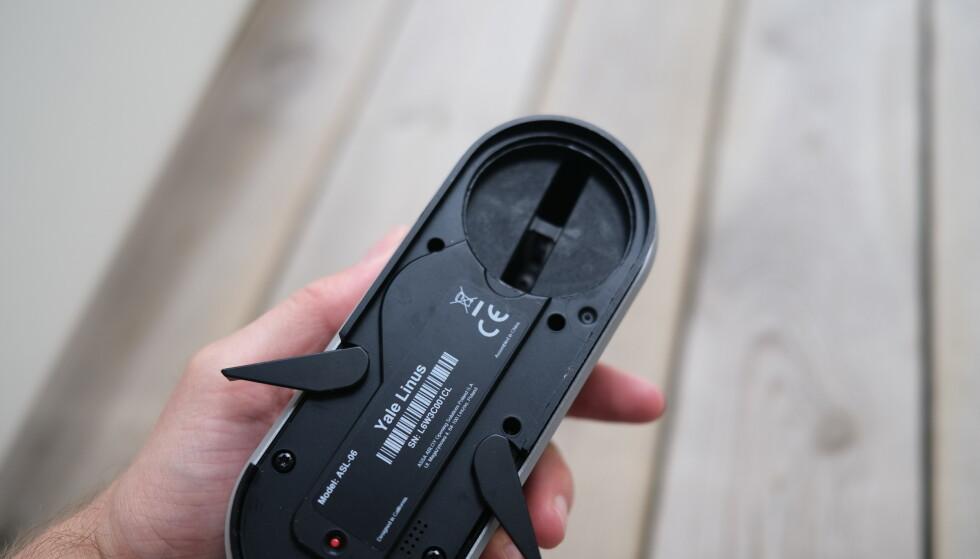 Nøkkelen eller låsvrideren, alt etter hva slags oppsett du har, skal få plass i den øverste delen. Foto: Martin Kynningsrud Størbu