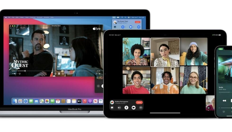 macOS Monterey får FaceTime SharePlay. Foto: Apple