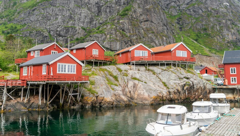 Bygget for fiskere: Opprinnelig ble rorbuene bygget til å være sesongboliger for fiskere. Foto fra rorbuer på Å: Kathrine Salhus