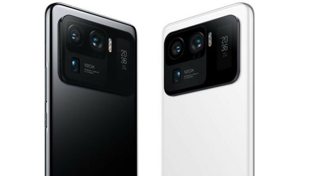 SOM VARMT HVETEBRØD: Xiaomi, her representert ved toppmodellen Mi 11 Ultra, solgte flest telefoner i Europa forrige kvartal. Foto: Xiaomi
