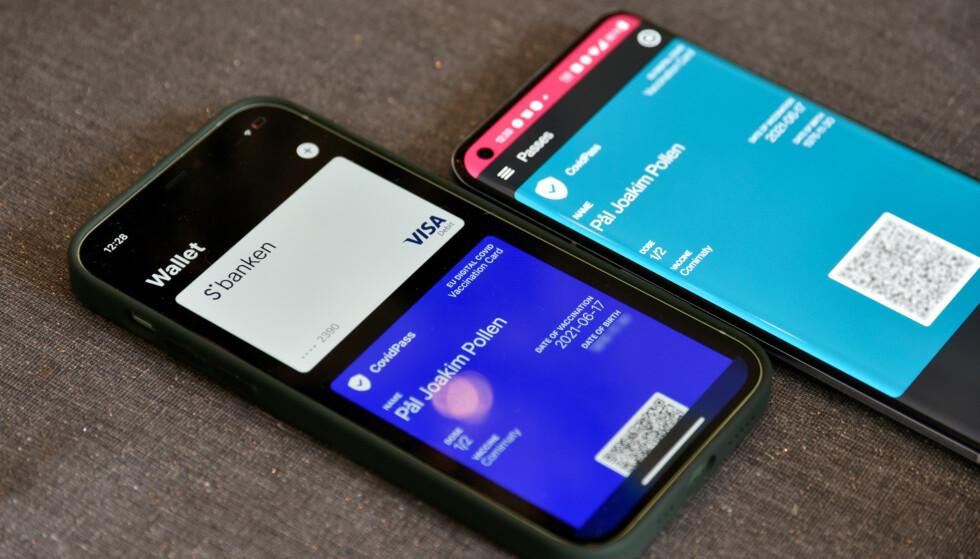 ENKLERE: Koronasertifikatet er lettere tilgjengelig via lommebok-appen enn ved å logge på nettsidene til Helsenorge når det skal vises frem. Foto: Pål Joakim Pollen