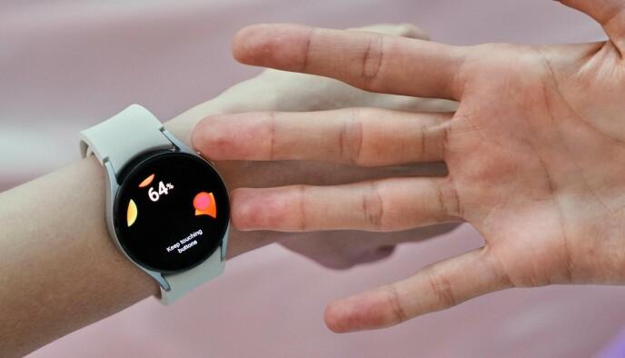 OM DU TØR: Samsungs nye klokke kan måle fettprosent og muskelmasse. Foto: Samsung